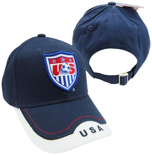 (Rhinox USA 2014 Team Patch Navy Bent Brim Adjustable Buckle Hat/Cap)