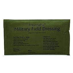 Reliance 965-10 Medical Military Dressing Bandage, Large, 8.75\