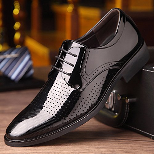 Black Hombres Los De Zapatos Primavera Negocios Transpirables Juventud De Cuero La Vestido Hombres Zapatos De Sandalias Huecos De Los 01qw0Ux8