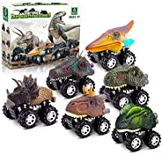 Dinosaur Toys for 3 Year Old Boys, Pull Back Dinosaur Toys for 5 Year Old Boy 6 Pack Set Car Toys for 4 Year O
