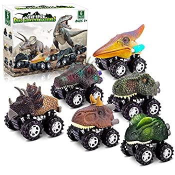 Dinosaur Toys for 3 Yr Previous Boys, Pull Again Dinosaur Toys for five Yr Previous Boy 6 Pack Set Automobile Toys for 4 Yr Previous Boys Christmas Birthday Presents for Youngsters 2,3,4,5,6 Yr Previous Boys Ladies