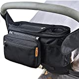 Convelife Stroller Organizers for Smart Moms, Premium Deep Cup Holders, Extra-Large Storage Space for iPhones, Wallets, Diapers, Books, Toys, iPads, The Perfect Baby Shower Gift