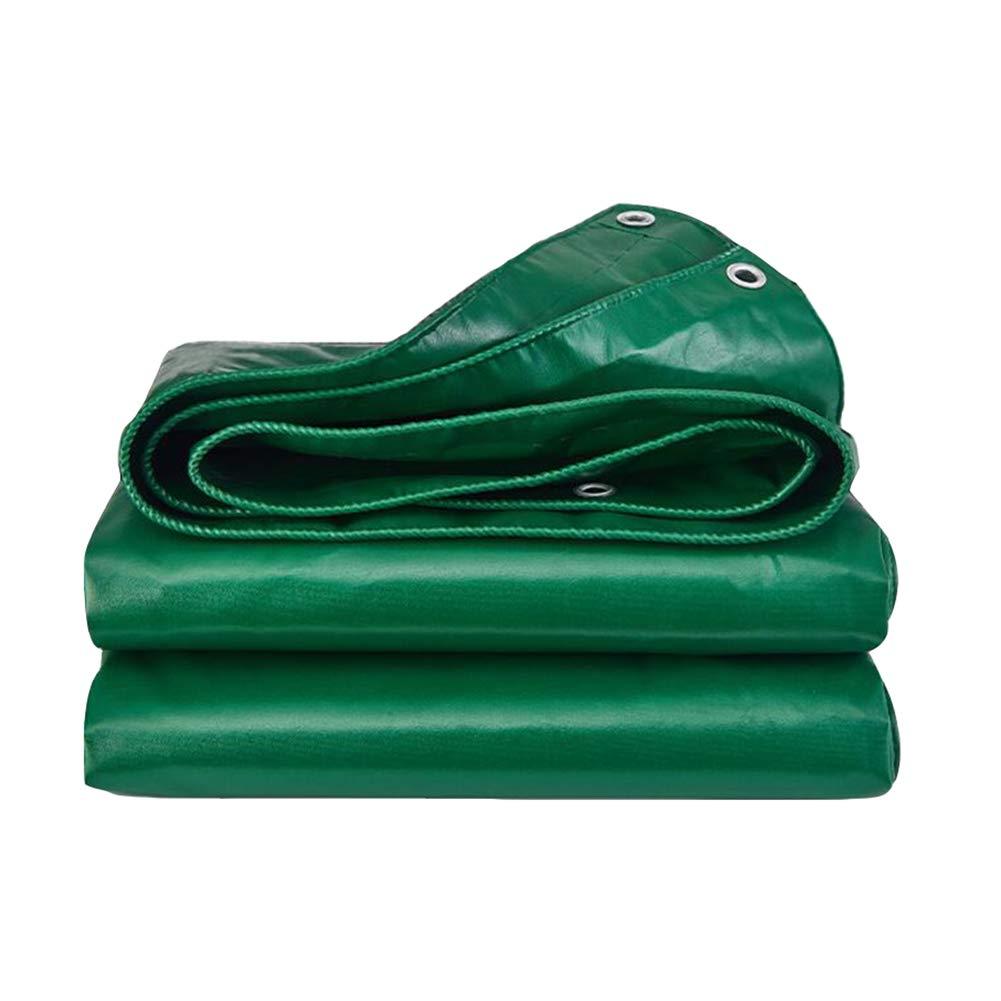 DALL ターポリン タープ ヘビーデューティー カバー 厚い PVC 防水 UV耐性 ティアプルーフ ターポリン (色 : Green, サイズ さいず : 4*3m) 4*3m Green B07KP1TNSG