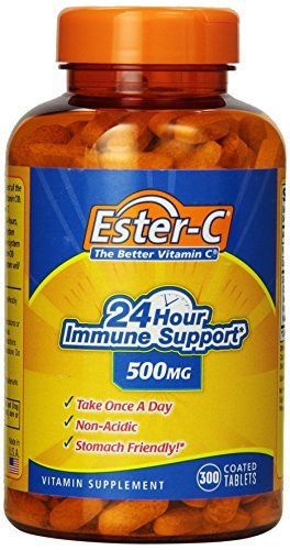 Cheap Ester-C 24 Hour Immune Support 500 milligrams Non-acidic Stomach Friendly, Coated Tablets, 300-Counts