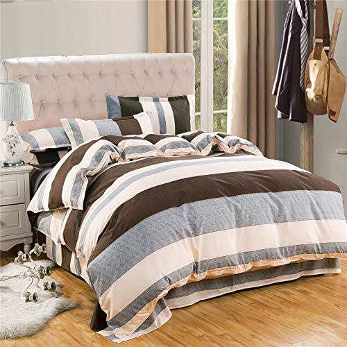"""zhuluokeke Bedding Duvet Cover Set 4 Pieces Floral Microfiber Down Comforter Quilt Cover with Zipper for Women or Men' s Bedroom Luxury Guest Room Decor Superior X-Long Twin(Duvet Cover 59""""78"""")"""