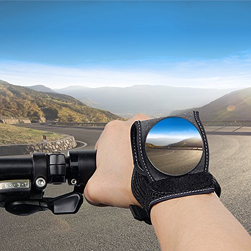 Bike Mirrors for Safety Rear View , Adjustable Bicycle Wrist Cycling Mirrors , Wrist Wear Mirrors for Cyclists Mountain Road Riding Cycling Accessories Small Gift Gadgets by good.hand
