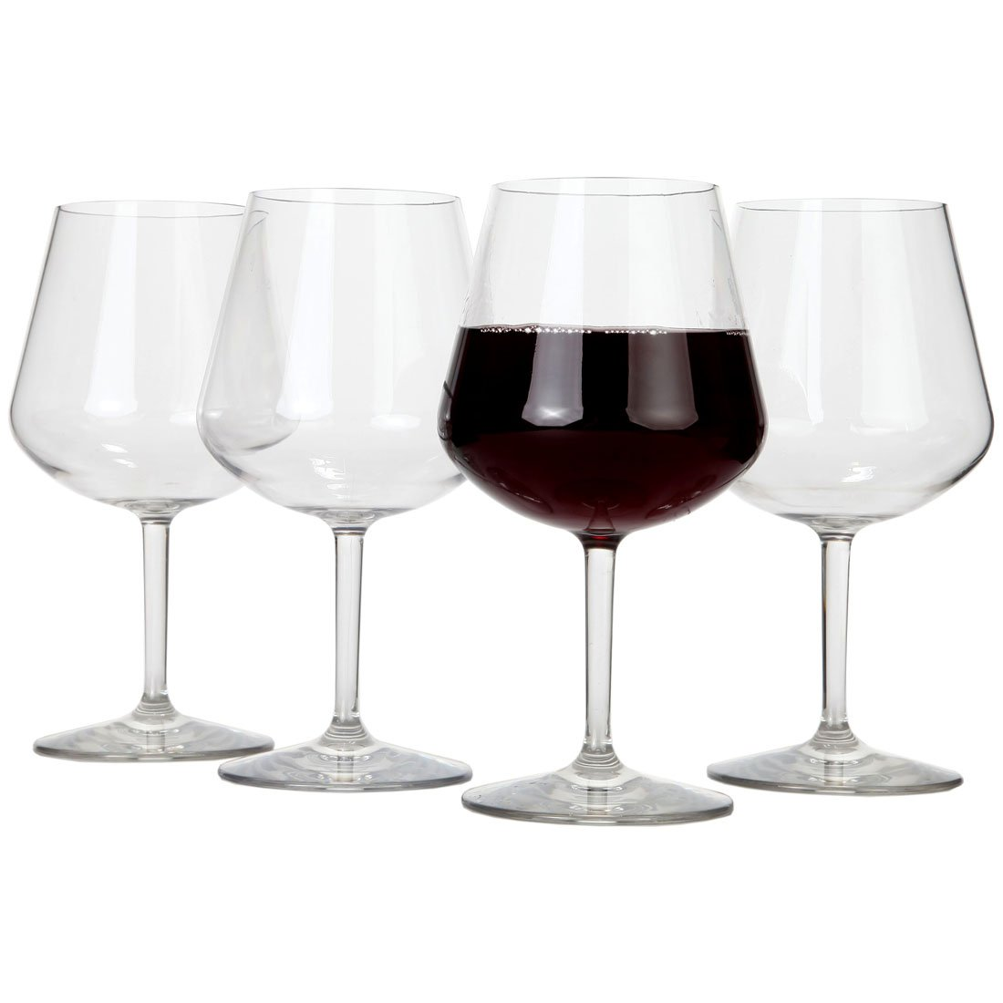 Lily's Home Chef Collection Unbreakable Pinot Noir and Burgundy Red Wine Glasses, Made of Shatterproof Tritan Plastic, Ideal for Indoor and Outdoor Use (22 oz. Each, Set of 4)