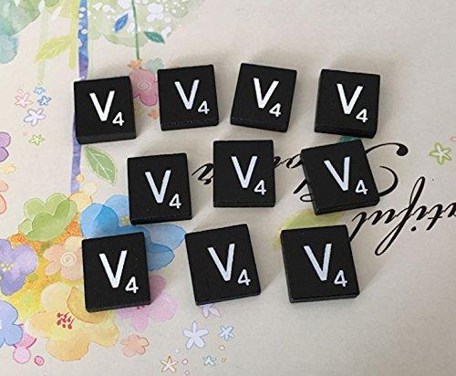 (10) TEN BLACK & White Scrabble Letter 'V' Tiles, Individual Scrabble Tiles for Crafts, A to Z Scrabble Tiles In - Q Vb