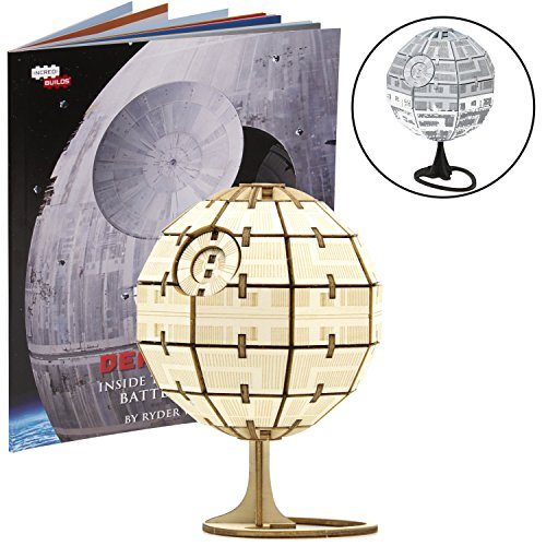 Star Wars: Rogue One Death Star Book and 3D Wood Model Kit - Build, Paint and Collect Your Own Wooden Model - Great for Kids and Adults, 12+ - 3