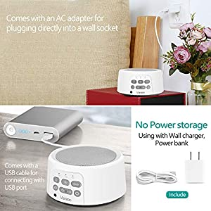 Vanzon White Noise Machine-Sound Machine for Sleeping & Relaxation,with Baby Soothing Night Light,29 High Fidelity Nature Sounds,Sleep Sound Therapy for Home,Office,Travel,Baby,Kids and Adults (White)