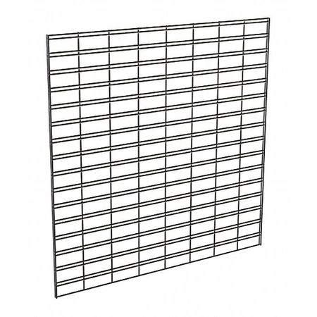 Wire Slatgrid Panel, Black, 4ft. x4ft, PK3