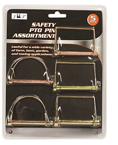 - 5PC Safety PTO Pin Assortment Set: 3PC Square pins:3