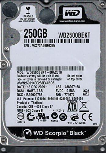 WD2500BEKT-00A25T0 DCM HABTJABB WX70A Western Digital 250GB