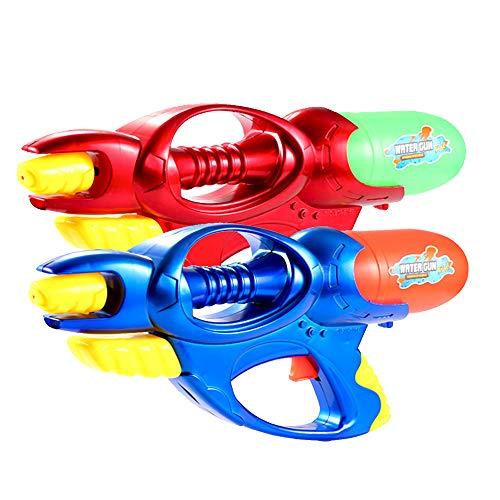 Fstop Labs 2 Pack Set Super Water Gun High Capacity Water Soaker Blaster Gun Squirt Long Range Toy for Swimming Pool Beach Sand Water Fighting Toy ()