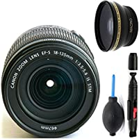 Canon 18-135mm IS STM Lens (WHITE BOX) + Deluxe Lens Cleaning Pen + Deluxe Lens Blower Brush + High Definition Wide Angle Auxiliary Lens