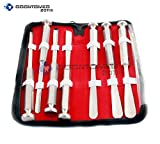 SET OF 7 PIECES US ARMY PATTERN CHISELS ORTHOPEDIC INSTRUMENTS WITH KIT ORTHO