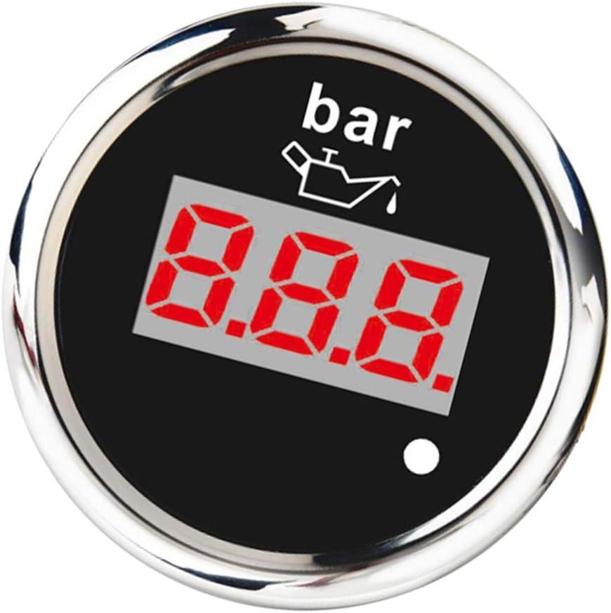 52mm Led Digital Öldruckanzeige Zusatzinstrument Zusatzanzeige Instrument Öldruckmesser Universal Baumarkt