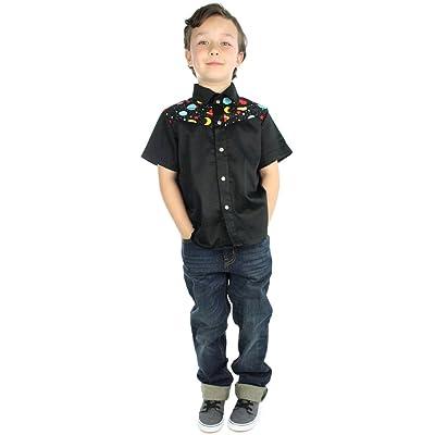 Hemet Kid's Outer Space Snap Top Black