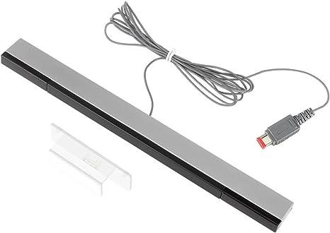 Pekyok - Barra de Sensor Wii, XW25 con Cable de Infrarrojos y Receptor de señal para Nintendo Wii/Wii U: Amazon.es: Videojuegos