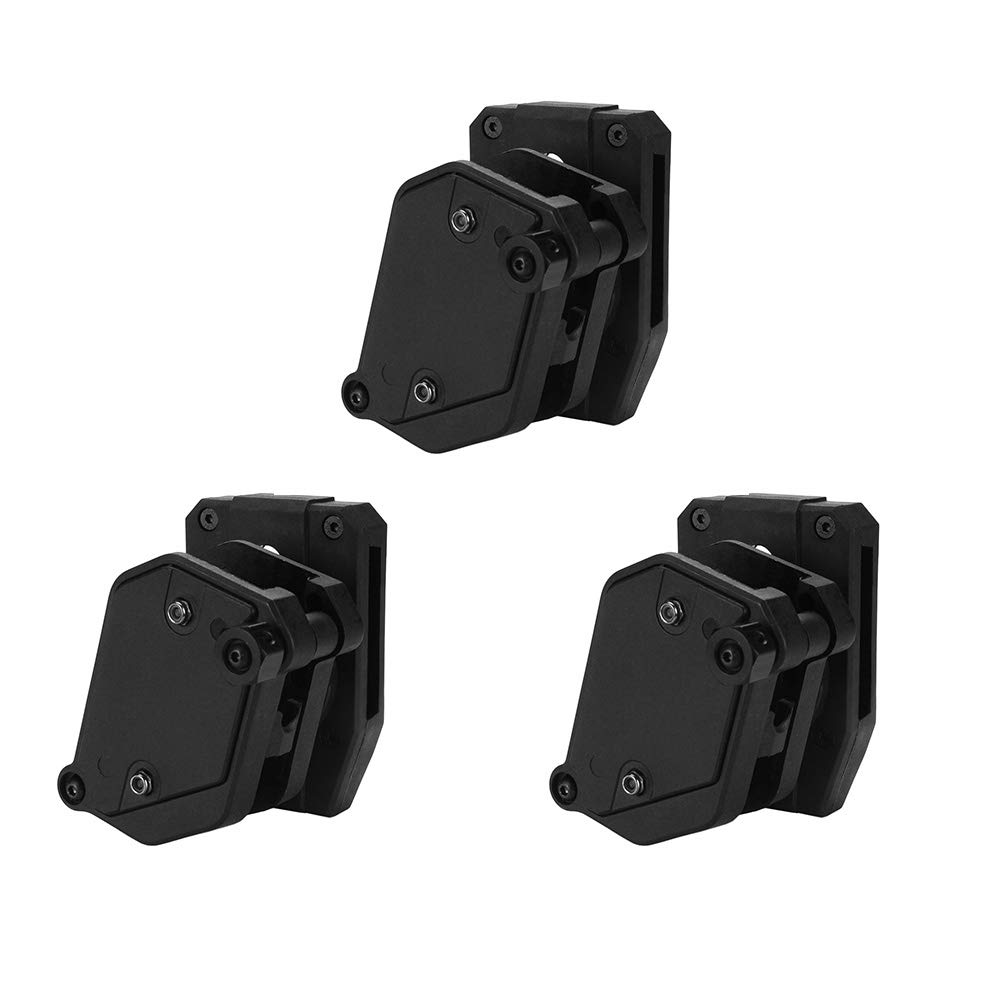 KRYDEX IPSC USPSA IDPA Competition Shooting Multi-Angle Adjustment Speed Shooter's Pistol Magazine Pouch Mag Holster Holder (BK 3 Pcs)