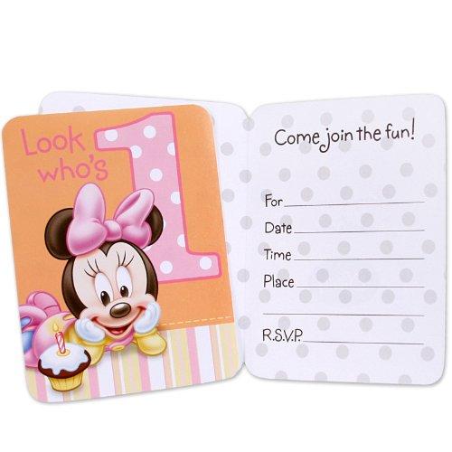 Hallmark Minnie's 1st Birthday Invitations - 8 ct ()