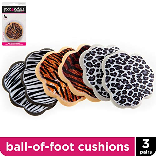 Foot Petals Animal Print Tip Toes 3 Pack (Print Tips)