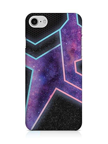 COVER Weltall Neon Galaxie Sterne Handy Hülle Case 3D-Druck Top-Qualität kratzfest Apple iPhone 7