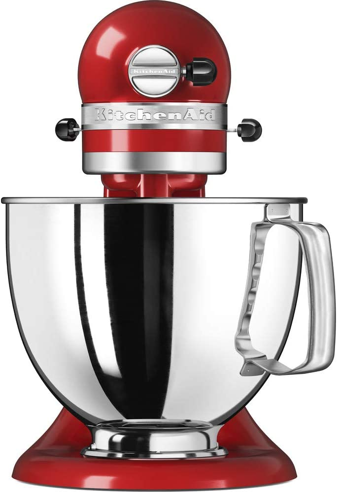 KitchenAid 4.8 Litre Artisan Stand Mixer 5KSM125 (Almond Cream) Empire Red