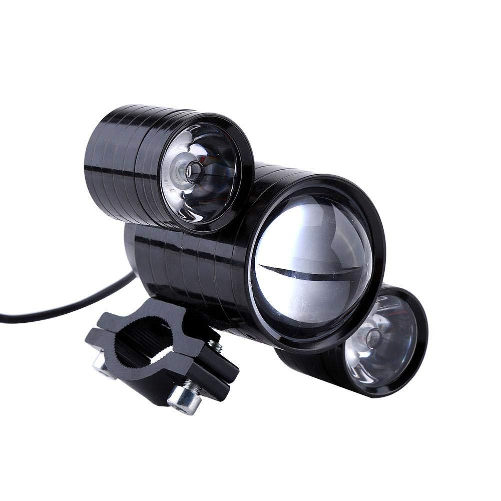 KIMISS Motorcycle Motocross LED Headlight Devil Eyes Lights Waterproof Spotlight Fog Lamp Black
