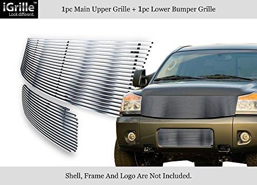 - APS Fits 2004-2007 Nissan Titan/Armada Stainless Steel Billet Grille Combo #N87816C