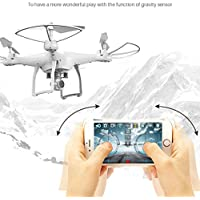 Gotd 2.4Ghz Camera WIFI FPV Headless Mode Altitude Hold RC Drone Quadcopter, White