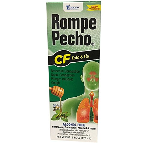 (Rompe Pecho CF Cough & Flu Syrup With Honey, 6 oz ( Pack of 8))