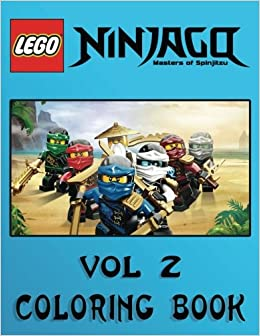 Amazon LEGO NINJAGO Coloring Book For Kids And Adults 40 Illustrations Volume 2 9781544745602 Sergey Tolmachev Books