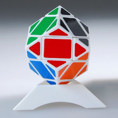 Thinkmax 3x3 Puzzle Dodecahedron Diamond Brain Teaser Speed Cube White