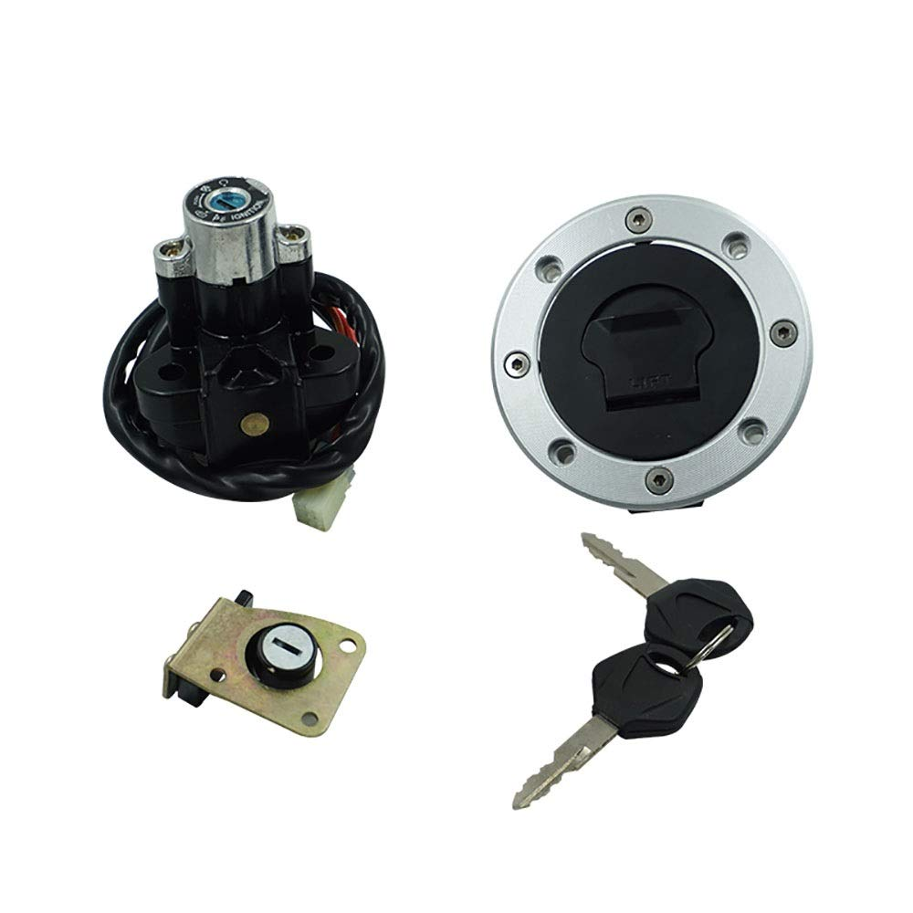 EODUDO-S Ignition Switch Gas Cap Seat Lock Key Set Compatible Suzuki GSX600 750 1998-2006 1200 1999-2000 Motorcycle & Powersports