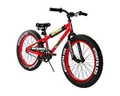 """Item #8107-57TJD - 20"""" Boys Sixteen20 Krusher Bike - Enjoy a fun riding experience on this brightly colored red boys Sixteen20 Krusher Bike. This bike has deluxe 20"""" tires with """"Stomper 2x2 graphics and alloy rims. Use the center type steel k..."""
