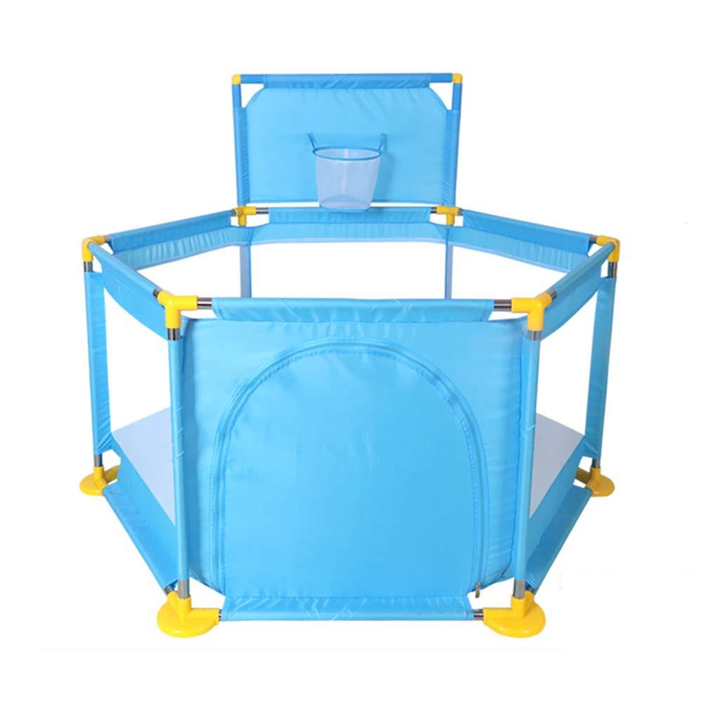 赤ちゃんの安全Playpen六角バスケットボールのフープPlaypenポータブル折り畳み屋内屋外屋外のフェンス(マット付き)   B07H2QK4F9
