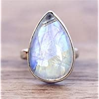 Promsup925 Silver Moonstone Women Jewelry Engagement Anniversary Gift Ring Size 6-10 (7)