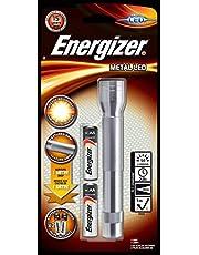 Energizer Metal LED Fener 2AA Pil, Krom/Siyah/Kırmızı
