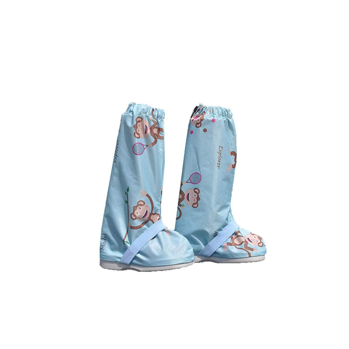 WUHUIZHENJINGXIAOBU Outdoor Snow Cover, Rain Shoe Cover, Thick Wear-resistant Adult Rainproof Waterproof Non-slip Shoe Cover, Desert Sand-proof High Foot Cover, Blue, Pink Shoe covers that can be worn