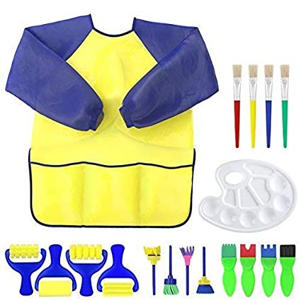 Latest Collection Of 1 Set Kids Painting Apron Waterproof Painting Brushes Long Sleeve Tools Art Smock For Kids Children Early Learning Diy Art Craft Home & Garden