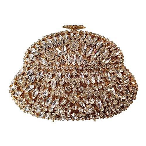 Haut Luxe Diamant Embrayage à De De Banquet Main De Sac Portefeuille Cristal Gamme Sac Dîner Dames Silver rUUqwvX