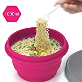 LAOPAO Collapsible Silicone Bowl with Lid 1000ML for...
