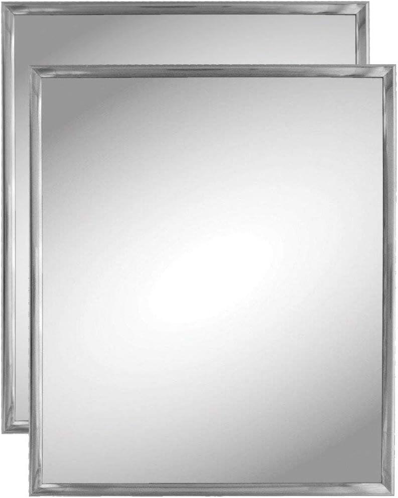 Kole Imports Silver Trim Wall Mirror (2 Pack)