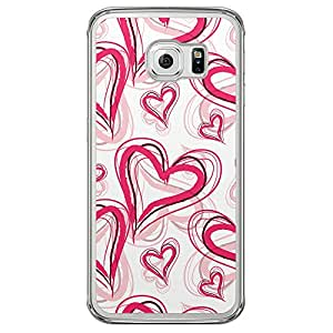 Loud Universe Samsung Galaxy S6 Edge Love Valentine Printing Files Valentine 1 Printed Transparent Edge Case - Pink/White