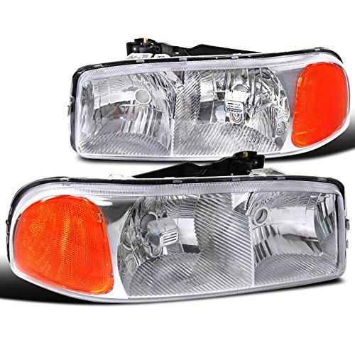 GMC Yukon Denali XL Chrome Housing Front Headlights Left+Right