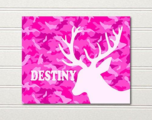 10-X-8-Custom-personized-Camo-Deer-Girls-Art-Print-in-Pink