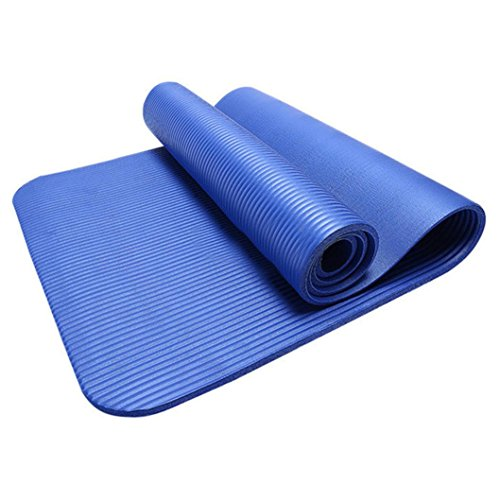 Aurorax 10MM Non Slip Yoga Mat Exercise Workout Fitness Physio Gym Cushion (Blue) Review