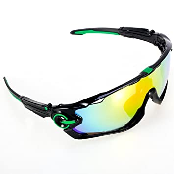 GIEADUN Road Mountain Ciclismo Gafas Gafas de Ciclismo polarizados Gafas de Sol Bicicleta, con 5 Lentes Intercambiables