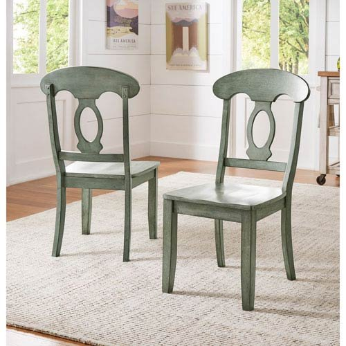 HomeHills Adalee Napoleon Back Side Chair, Set of 2 ()